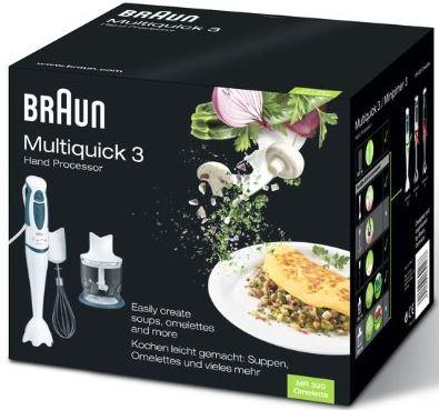 Braun-Multiquick-3-MR 320-Omelette-MR-4050-HC-Stabmixer-Angebot