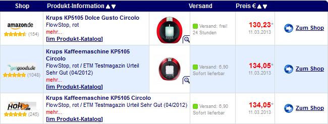 Krups-KP5105-Dolce-Gusto-Circolo-FlowStop-rot-preisvergleich