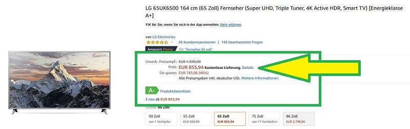 LG 65UK6500 im Angebot