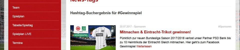 Gewinnspiele auf dem Eintracht Blog