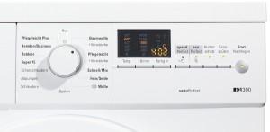 Programm und Bedienpanel der iQ300 Waschmaschine von Siemens